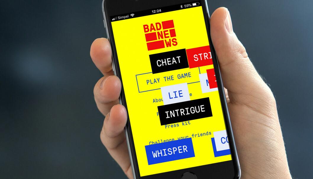 I dataspillet Bad News kan du lære knepene for å spre falske nyheter – og på den måten lære å gjenkjenne dem på nettet. (Foto: DROG/www.fakenewsgame.org)