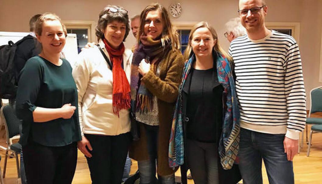 Her er gjengen som tenkte seg frem til en idé verdt 2,2 millioner. Fra venstre: Elise Bratteng Rønning, Merete Fabritius, Synnøve Aabrekk, Ingeborg Nordbø og Kåre Kristiansen. (Foto: Nordlandsforskning)