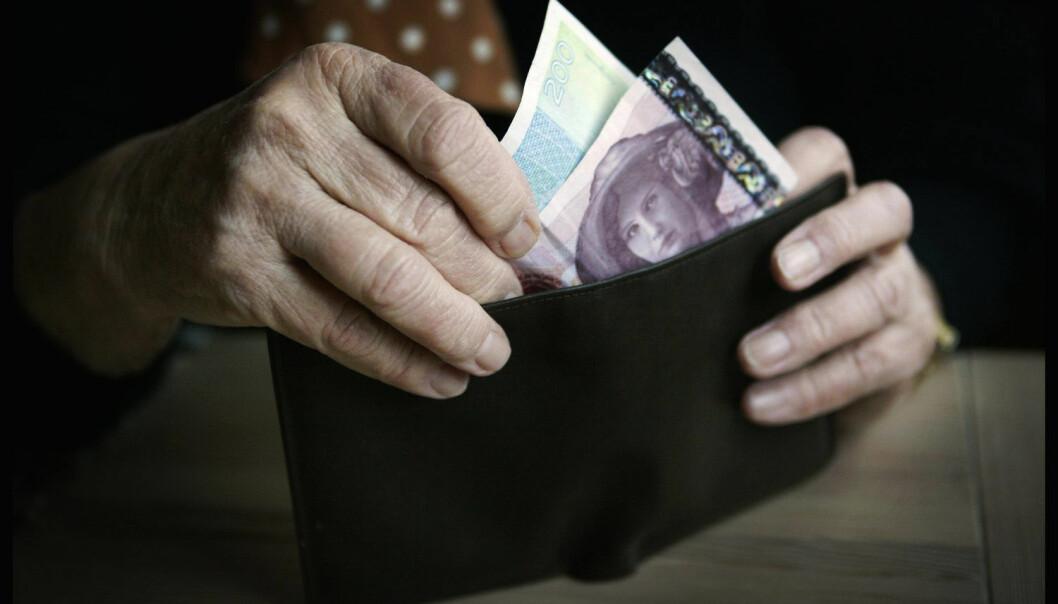 Tilfredsheten som penger gir, når et tak ved et visst beløp. Tjener vi mer enn 750 000 kroner, blir de fleste av oss ikke lykkeligere av den grunn.  (Foto: Tor Richardsen / NTB scanpix)