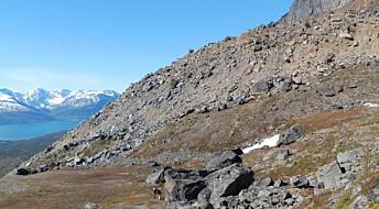 Overvåker rasutsatte fjell fra verdensrommet