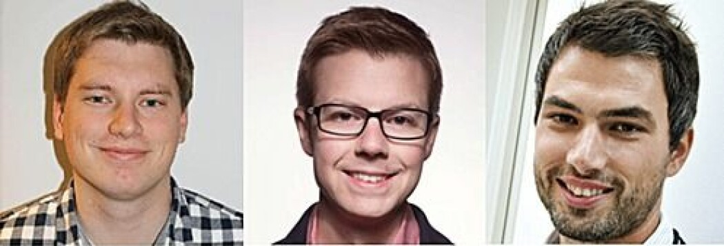 Øivind Wilhelmsen, Terje Lohndal og Kyrre Eeg Emblem får pris.  (Foto: NTNU / OUS)
