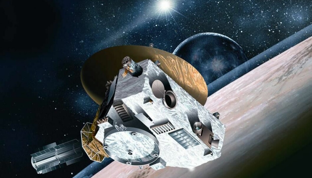 Romsonden New Horizons har siden 2006 satt mange rom-rekorder.  (Illustrasjon: NASA/Johns Hopkins University Applied Physics Laboratory/Southwest Research Institute)