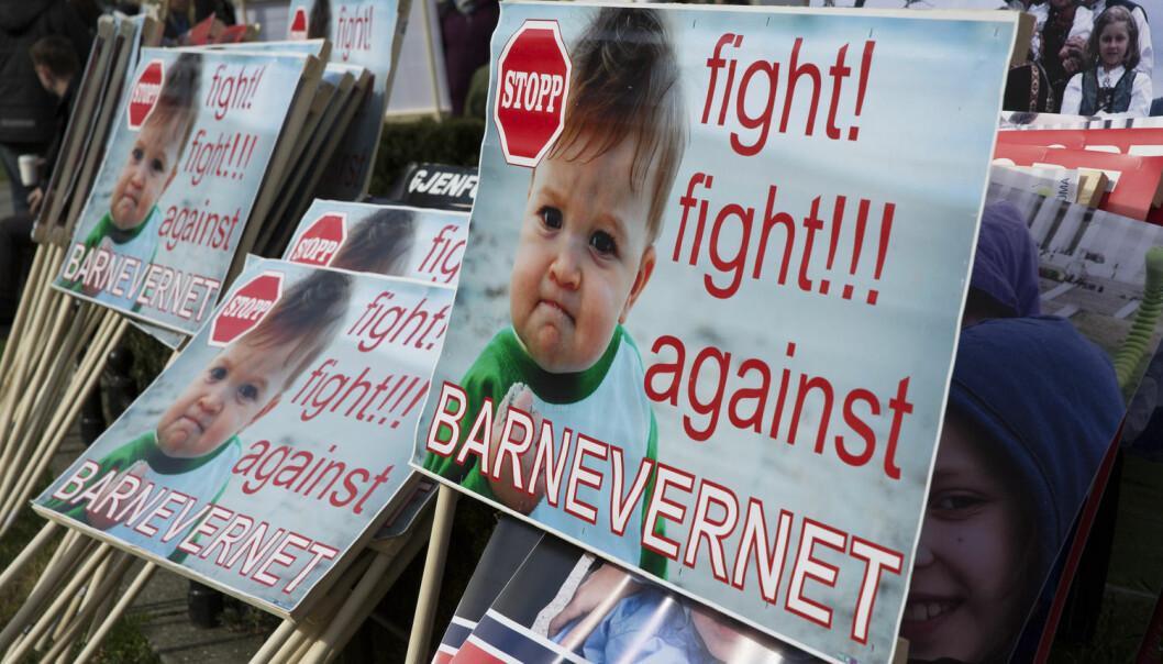 Det har kommet mange protester mot det norske barnevernet på internasjonale og norske Facebook-grupper. Alle har flere tusen medlemmer. Forsker har nå sett nærmere på innholdet i gruppene.  (Illustrasjonsfoto: Ole Berg-Rusten / NTB Scanpix)
