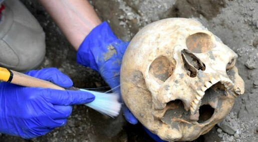 Fant skallen til «hodeløst» Pompeii-skjelett