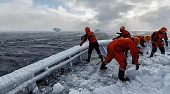 Varsler fare for ising på skip