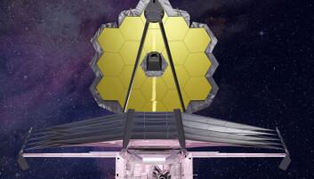 James Webb-teleskopet er neste generasjons romteleskop. Teknologien har utviklet seg voldsomt siden Hubble-teleskopet ble bygget på 1990-tallet. (Illustrasjon: Northrop Grumman)