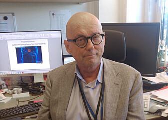 Forsker Henning Værøy forteller at antistoffene til de kriminelle skilte seg fra antistoffene til tilfeldige mennesker. (Foto: Frieda Wik)