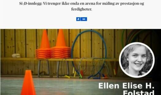 Kjære 'slitne kroppsøvingsutøver' Ellen Elise