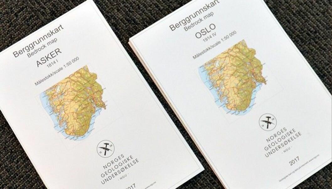 De nye kartene over Oslo og Asker dekker de mest folkerike delene av Norge. (Foto: NGU)