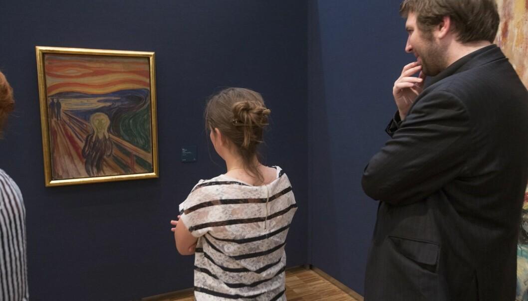 Edvard Munch malte fire versjoner av «Skrik» i 1883. (Foto: Terje Bendiksby, NTB scanpix)