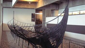Skuldelev II, et vikingsskip som ble bygget i Dublin rundt 1050. Skipet er på vikingskipmuseet i Roskilde i Danmark.  (Foto: Casiopeia/CC BY-SA 2.0)