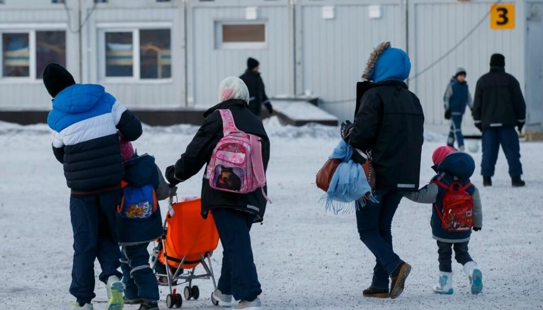 Asylsøkere i ankomstsenteret for flyktninger i Kirkenes. Mange av disse har opplevd krigshandlinger og trenger oppfølging. Forskning viser at vi i Norge ikke har gitt flyktninger den psykologiske hjelpen mange av dem trenger. (Foto: Cornelius Poppe, scanpix)