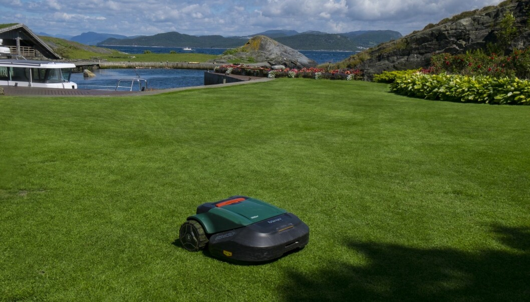 Med en robotgressklipper slipper du å klippe gresset selv, men ifølge Norsk entomologisk forening kan slike gressklippere skade det biologiske mangfoldet. (Foto: Vidar Ruud / NTB scanpix)