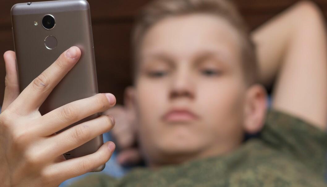 Forskerne så en forskjell mellom de som brukte digitale medier mye og de som brukte det lite. (Illustrasjonsfoto: Nicole's / Shutterstock / NTB scanpix)