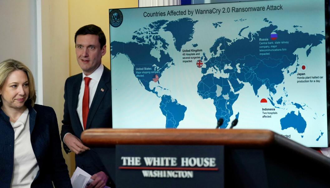 Cyberangrepet Wannacry, dataormen som herjet flere lands systemer i fjor, viser hvor viktig det er med oppdaterte operativsystemer. Utviklingsland blir stadig mer sårbare for cyberangrep og cyberkriminalitet, ifølge forsker.  (Foto: Reuters / NTB Scanpix)