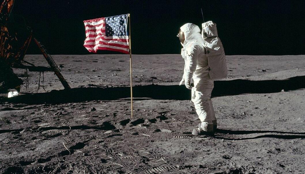 Er de amerikanske astronautene det eneste livet som har vært på månen? Dette er Buzz Aldrin på månens overflate i 1969. (Bilde: NASA)