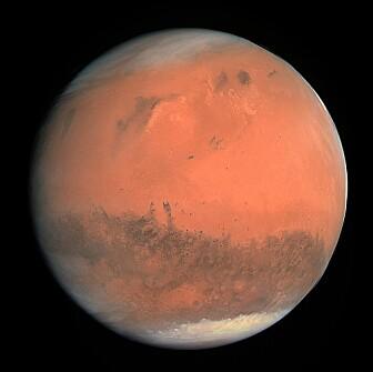 Mars i all sin prakt, som den svært tørre planeten den framstår som i dag. (Bilde: ESA/MPS/UPD/LAM/IAA/RSSD/INTA/UPM/DASP/IDA/CC BY-SA 3.0)