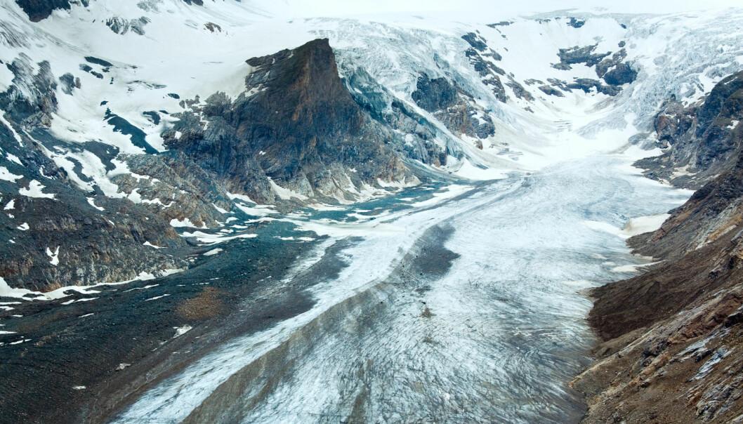 Isbreer dekker omkring 10 prosent av jordens landareal, men bidraget til havstigningen er mye større. Her ser vi Pasterze-isbreen i de østerrikske Alpene.  (Foto: Landscape Nature Photo / Shutterstock / NTB scanpix)