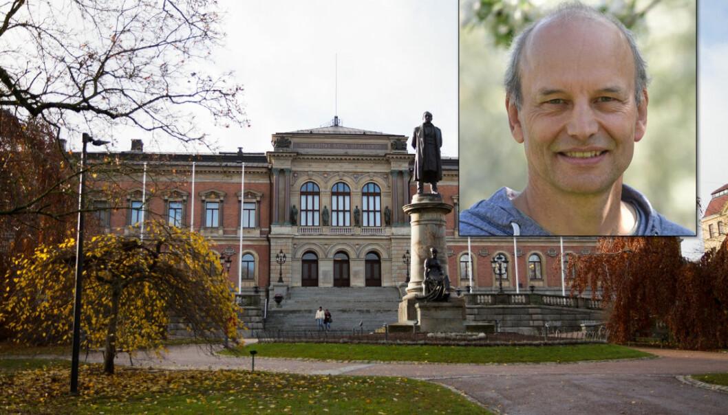 Peter Eklöv, professor ved Uppsala universitet, blir fratatt forskningsmidler etter å ha blitt funnet skyldig i vitenskapelig uredelighet av sin egen arbeidsgiver.  (Foto: Uppsala universitet)