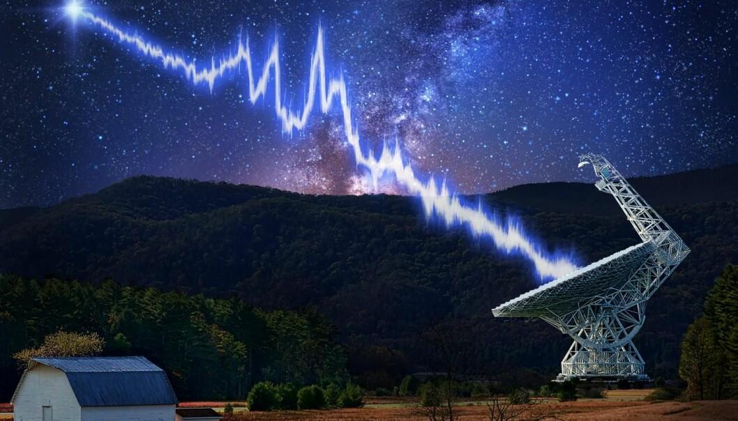 Green Bank Telescope i West Virginia var et av teleskopene som registrerte gjentatte glimt av radiostråler fra en fjern galakse.  (Illustrasjon: Danielle Futselaar - Photo usage: Shutterstock.com)