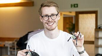 Kevin har sommerjobb som droneforsker