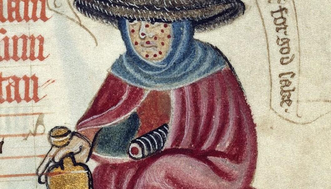 I middelalderen måtte spedalske bære en klokke for å advare andre om at de var syke. (Foto: Wikimedia Commons)