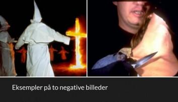 Her to av de negative bildene forsøkspersonene så. (Foto: K.W. Miskowiak et.al., 2018)
