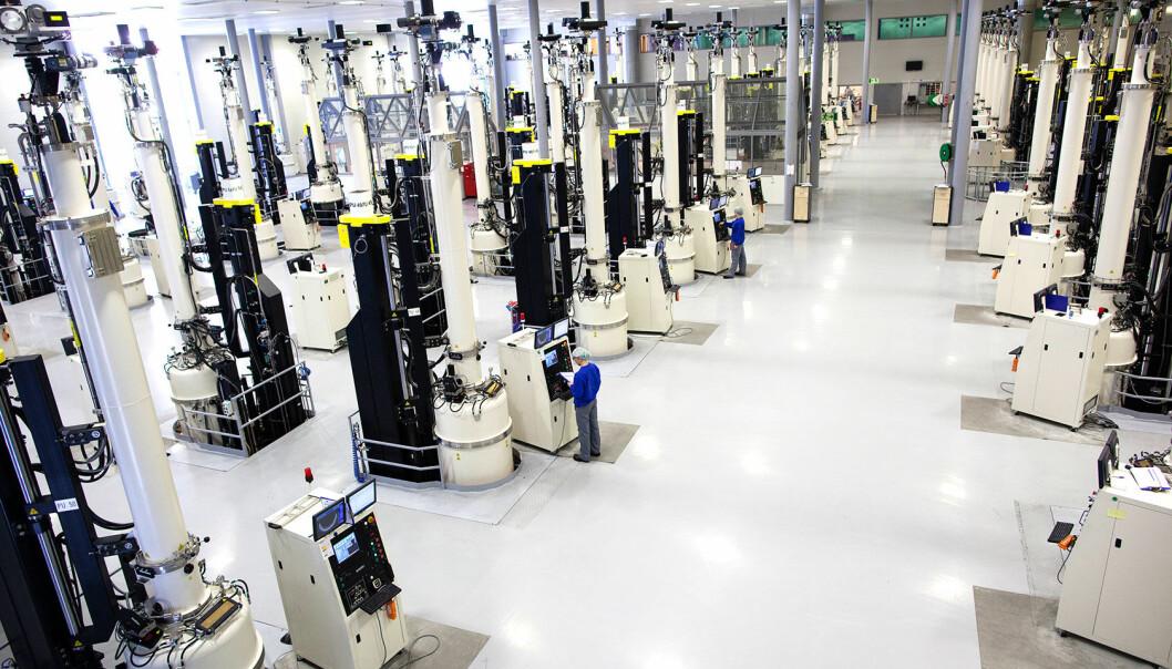 Verdens mest miljøvennlige produksjon av solceller finnes i Årdal