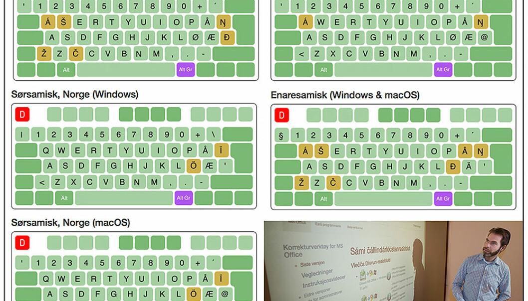 På divvun.no er det mulig å laste ned alle tastaturene for bruk til PC og Mac. (Foto: UiT)