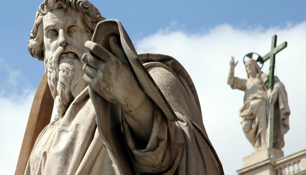 Paulus og Jesus, fra Peterskirken i Roma. (Foto: AngMoKio, med bildelisens CC BY-SA 2.5)