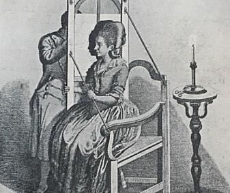 Oppsett av en silhuettramme. (Illustrasjon: Johann Rudolph Schellenberg (1740–1806), Wikimedia Commons, Wellcome Trust, Copyrighted work available under Creative Commons Attribution only licence CC BY 4.0)