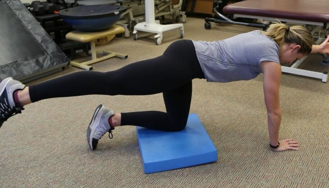 Vil du gjøre ryggen sterkere, bør du satse på øvelser som har fokus på å stabilisere kjernemuskulaturen, mener forskere.  (Foto: THE OHIO STATE UNIVERSITY WEXNER MEDICAL CENTER)