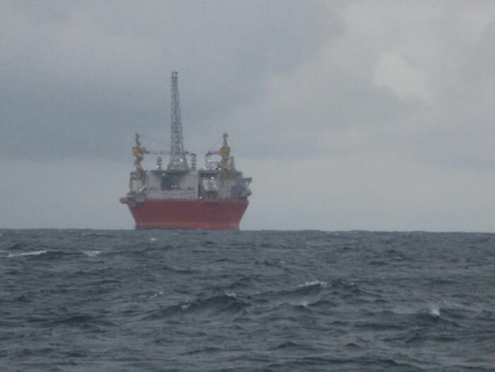 Goliat-plattformen nordvest for Hammerfest. (Foto: Leif Christian Stige, UiO)