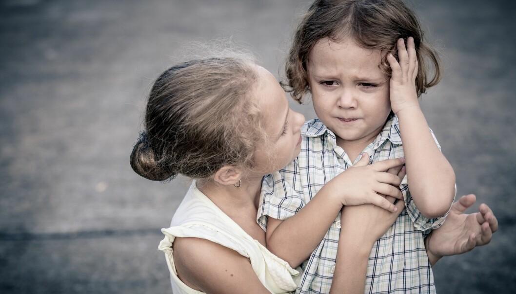 Blir barn stresset av barnehage? Ja, sa forskerne bak en studie om kortisolnivået hos små barnehagebarn. Det er ikke en riktig konklusjon, mener Andreas Lahelle og Tor Strand.  (Foto: altanaka / Shutterstock / NTB scanpix)