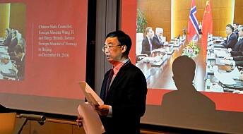 Taus Kina-ambassadør på UiB-besøk