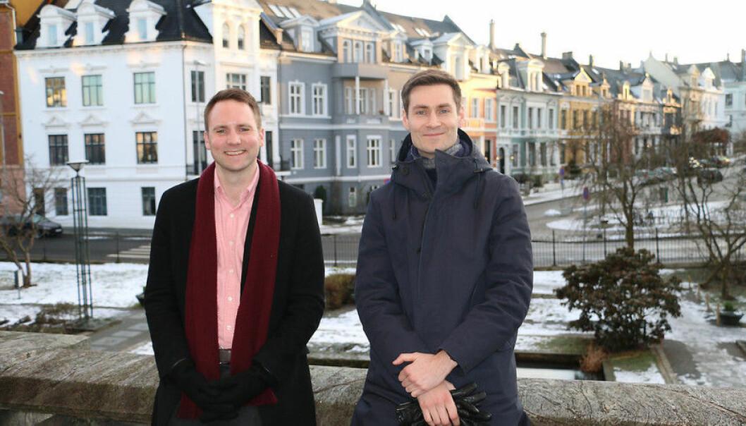 Filosofene Pål Antonsen og Ole Hjortland håper å bidra til at det offentlige ordskiftet blir bedre. (Foto: Hilde Kristin Strand)