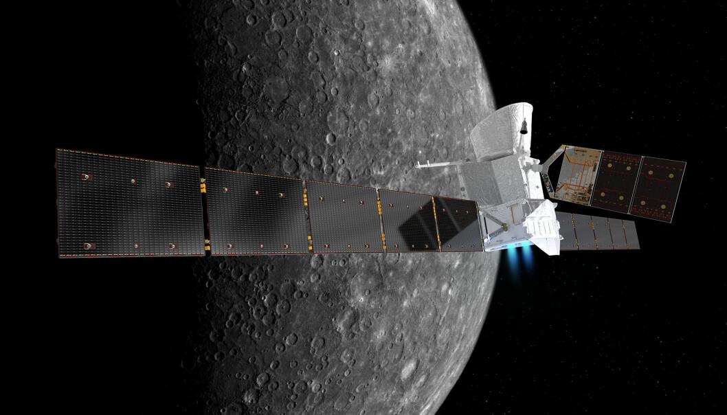 Romsonden skal blant annet undersøke Merkurs overflate, indre og magnetfelt. (Illustrasjon: ESA / ATG medialab)