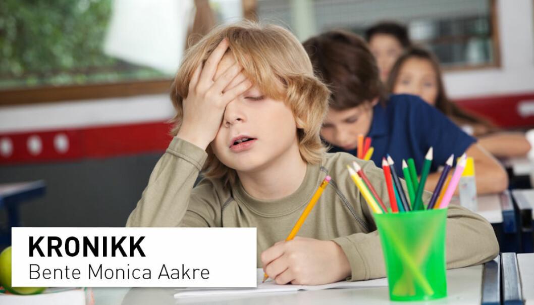 – For barn er godt syn viktig for utvikling, blant annet for motorikk og læringsevne, og skolebarn med uoppdaget synsfeil kan ha problemer med lesing og konsentrasjon, skriver kronikkforfatteren. (Foto: Tyler Olson / Shutterstock / NTB scanpix)