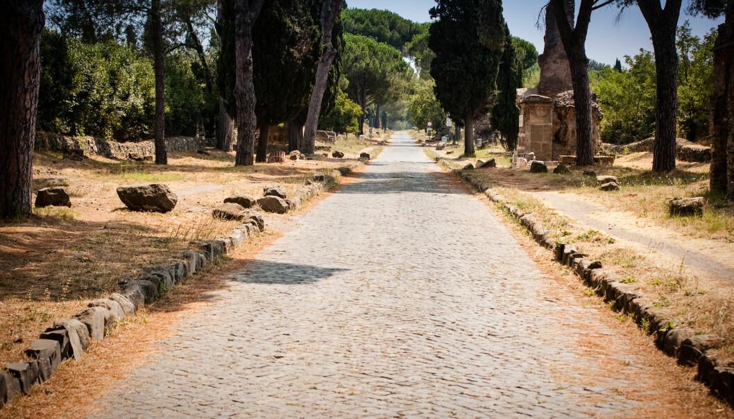 Antikk romersk vei i nærheten av Roma. (Foto: Spirit Stock / Shutterstock / NTB scanpix)