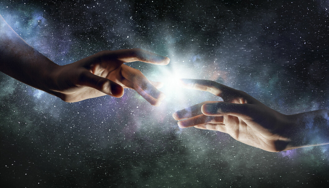 Flertallet av dagens biologistudenter tror ikke lenger at Gud hadde en finger med i spillet da mennesket ble til. (Illustrasjon: Sergey Nivens / Shutterstock / NTB scanpix)