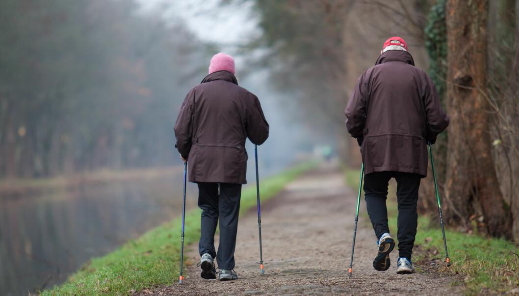 Været ser ut til å påvirke eldres aktivitetsnivå, i alle fall hos de som har dårlig kondis fra før. (Illustrasjonsfoto: Shutterstock / NTB Scanpix)