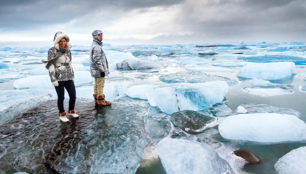 Javisst kan det være vakkert i verdens kalde hjørner, som her ved Jökulsárlón på Island. Men betaler vi en pris for å ha bosatt oss i et slikt klima? (Foto: Dennis van de Water / Shutterstock / NTB scanpix)