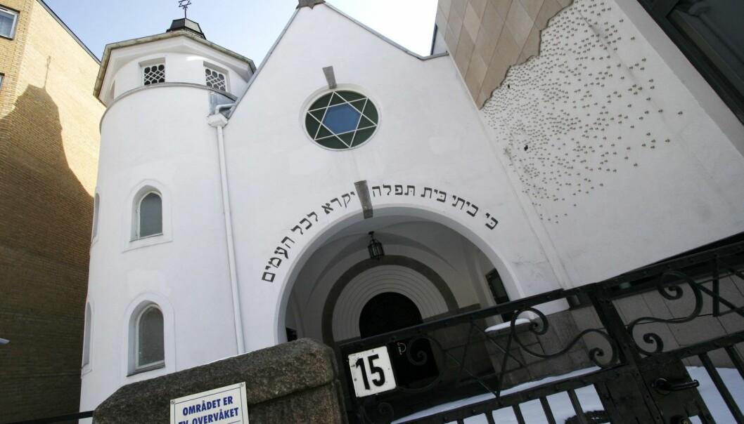 70 prosent av jødene som er spurt i undersøkelsen svarer at de opplever at jødehatet er blitt verre de siste årene. Her er synagogen i Oslo. (Foto: Jarl Fr. Erichsen, NTB scanpix)