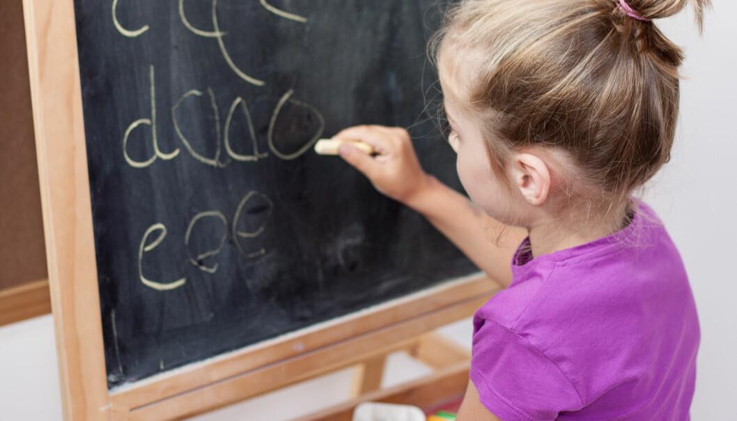 Ved å gi elevene mulighet til å bli kjent med bokstavene raskere, vil de som strever få flere repetisjoner, mer øving og bedre tilpasset opplæring i det de strever med.  (Foto: Shutterstock / NTB scanpix)