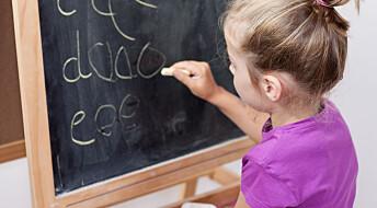 Debattinnlegg: Raskere bokstavlæring er god opplæring, også for elever som strever