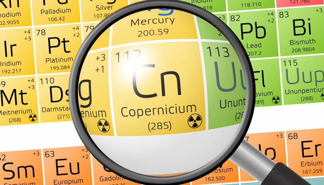 Copernicium er et kunstig fremstilt grunnstoff som ikke finnes naturlig her på jorden. (Foto: Shutterstock / NTB scanpix)