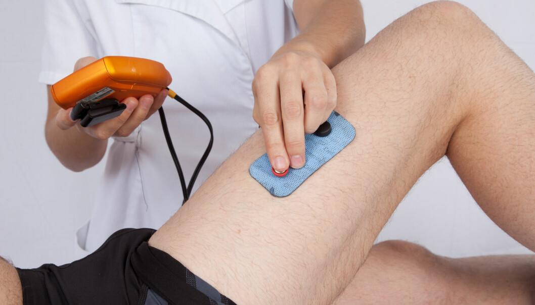 God effekt av elektrisk muskeltrening etter korsbåndskader