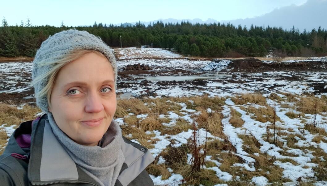 Islandske Helga Dis Sigurdardottir er forskaren som vil fange folk med film. (Foto: Robin Munkvold)