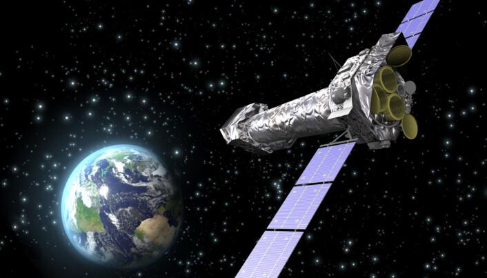 XMM-Newton, den europeiske romorganisasjonen ESAs røntgenteleskop i rommet. (Illustrasjon: ESA)
