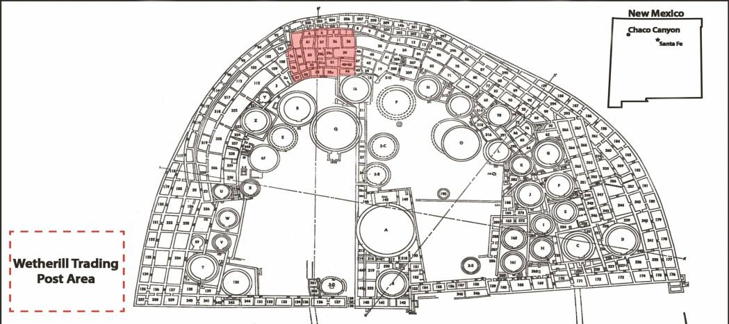 Planløsningen på Pueblo bonito. (Bilde: Crown et al./Antiquity 2018)